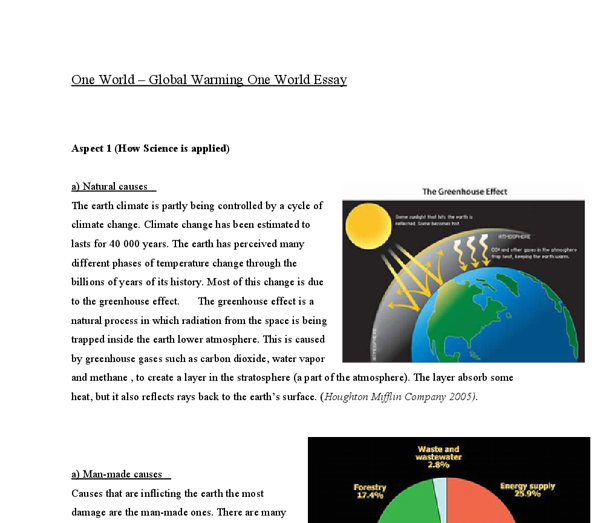 How to solve global warming essay
